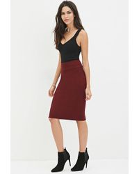Forever 21 - Sweater-knit Pencil Skirt - Lyst