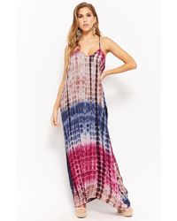 8f404a238ee2 Forever 21 Splattered Stripe Maxi Dress in White - Lyst