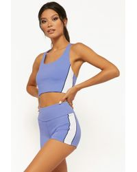 Forever 21 - Active Contrast Trim Shorts , Periwinkle/multi - Lyst