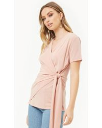 Forever 21 - Women's Draped Faux-wrap Top - Lyst