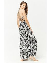 08f4c84ccc1 Lyst - Forever 21 Floral Print Maxi Dress in Black