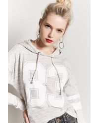 Forever 21 - Women's 88 Graphic Marled Knit Hoodie - Lyst