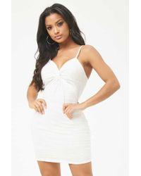 Forever 21 - Women's Slub Knit Twist-front Mini Dress - Lyst