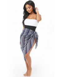 6ad4be2d881ff Lyst - Forever 21 Plus Size Swim Cover-up Sarong