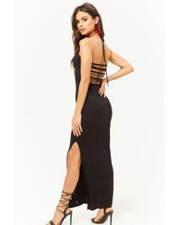 Forever 21 - Strappy-back Halter Maxi Dress - Lyst