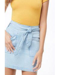 0dc7cdd56 Forever 21 - Women's Patch-pocket Denim Mini Skirt - Lyst