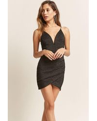 Forever 21 - Metallic V-wire Homecoming Dress - Lyst