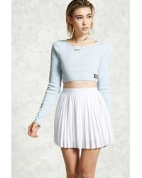 afe2a542803c Forever 21 - Pleated Mesh Mini Skirt - Lyst