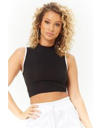 1a2d7efb57d Forever 21 Off-the-shoulder Cutout Crop Top in Black - Lyst