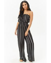 40ac97c0562b1 Forever 21 Plus Size Strapless Jumpsuit in Black - Lyst