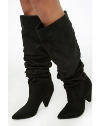 Forever 21 - Slouchy Knee-high Boots - Lyst