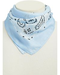 Forever 21 - Satin Paisley Print Scarf - Lyst
