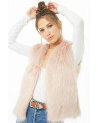 Forever 21 - Faux Fur Vest - Lyst