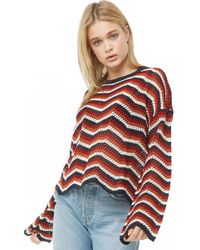 Forever 21 - Multicolor Zigzag Print Sweater - Lyst