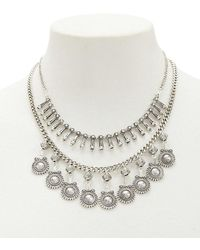 Forever 21 - Layered Burnished Statement Necklace - Lyst