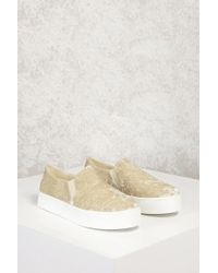 Forever 21 - Crushed Velvet Slip-on Trainers - Lyst