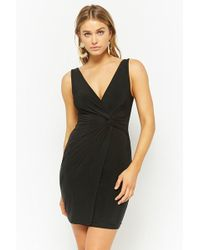 3fdb82f796f6 Lyst - Forever 21 Crisscross Back Bodycon Dress in Black