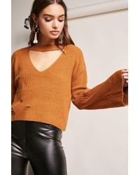 Forever 21 - Bell-sleeve Cutout Jumper - Lyst