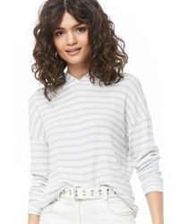 Forever 21 - Women's Striped Hooded Top - Lyst
