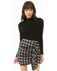 Forever 21 - Ruched Ruffle Plaid Skirt - Lyst