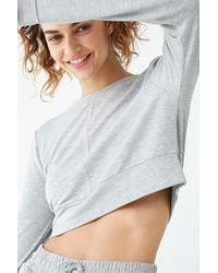 Forever 21 - French Terry Lounge Top , Grey - Lyst