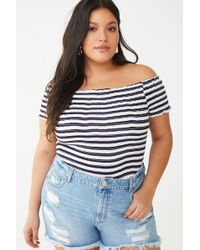 9c90ee6a Forever 21 Women's Plus Size Floral Embroidered Crop Top in White - Lyst