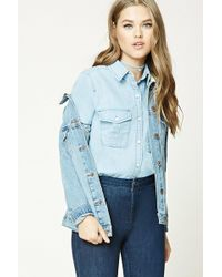 Forever 21 - Chambray Button-front Shirt - Lyst