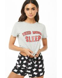 Forever 21 - Need More Sleep Graphic Pj Set - Lyst