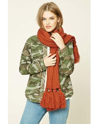 Forever 21 - Tassled Ribbed Knit Scarf - Lyst