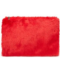 Forever 21 - Oversized Faux Fur Clutch - Lyst