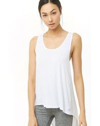 d0e3f15a2a0 Forever 21 - Active Cutout Racerback Tank Top - Lyst