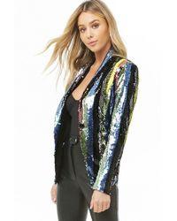Forever 21 - Striped Sequin Blazer - Lyst