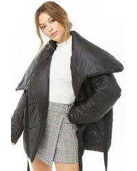 Forever 21 - Wrap-front Puffer Jacket - Lyst