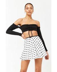Forever 21 - Polka Dot Mini Skirt - Lyst