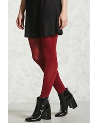 Forever 21 - Opaque Stirrup Tights - Lyst
