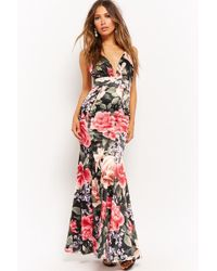Forever 21 - Floral Fluted Gown - Lyst