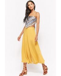 Forever 21 - High-rise Wide-leg Trousers - Lyst