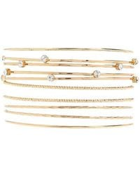 Forever 21 - Rhinestone Bangle Set - Lyst