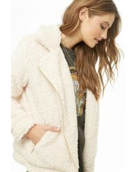 Forever 21 - Shaggy Faux Fur Moto Jacket - Lyst