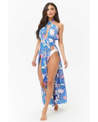 Forever 21 - Dotted Floral Halter Swim Cover-up - Lyst