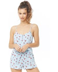Lyst - Forever 21 Watermelon Print Pj Set in Blue 77fd632c7