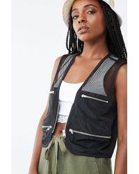 Forever 21 Mesh Utility Vest , Black