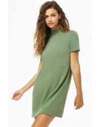 b3d8df2ddb8cc Forever 21 - Mock Neck Mini T-shirt Dress - Lyst