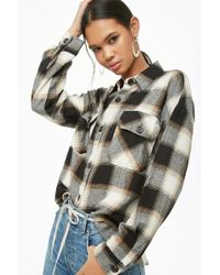 Forever 21 - Plaid Button-down Flannel Shirt - Lyst