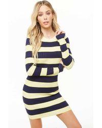 009b16e5767 Forever 21 - Women s Multicolour Striped Mini Dress - Lyst