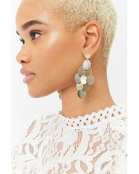 Forever 21 - Tiered Faux Shell Drop Earrings - Lyst