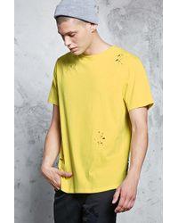 Forever 21 - Distressed T-Shirt mit Rundhalsausschnitt - Lyst