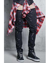 Forever 21 - Bleach Dye Pull Ring Jeans - Lyst