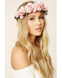Forever 21 - Rose Flower Crown Headwrap - Lyst