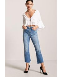 Forever 21 - Plunging Ruffle Top - Lyst